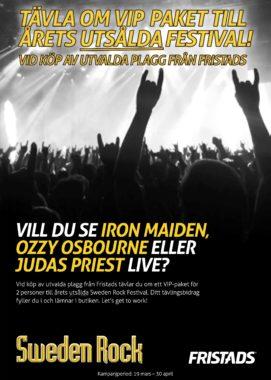 VINN VIP-PAKET TILL SWEDEN ROCK FESTIVAL 2018!